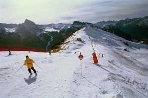 Ski-Umrundung der Sella/Dolomiten