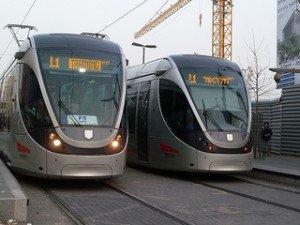 Mit Straßenbahn durch Jerusalem